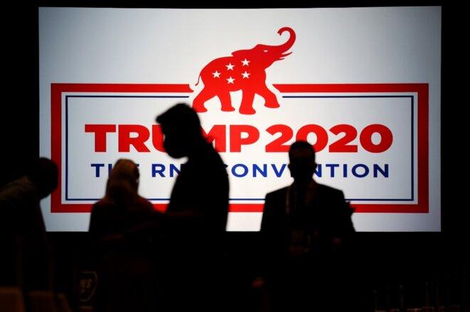 À Charlotte, en Caroline du Nord, l'éléphant est dans la pièce pour la convention républicaine. © Travis Dove/Pool/AFP