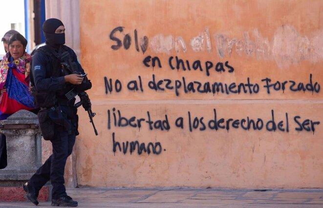 « Au Chiapas, non au déplacmement forcé - Liberté aux droits de l'être humain » © @isaacguzmanphoto