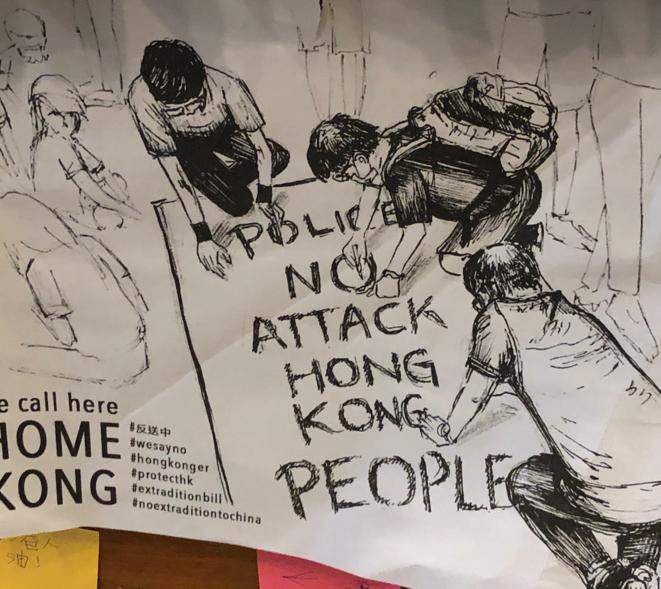 Une affiche à Hong Kong en novembre 2019. © FB