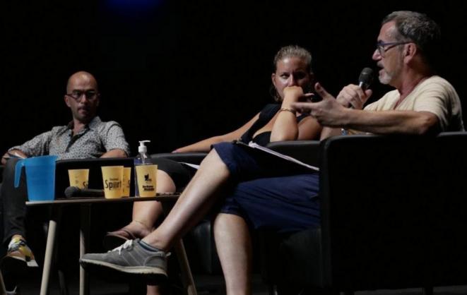 François Annycke, Mathilde Panot, Gilles Rouby © La France Insoumise amfis d'été 2020
