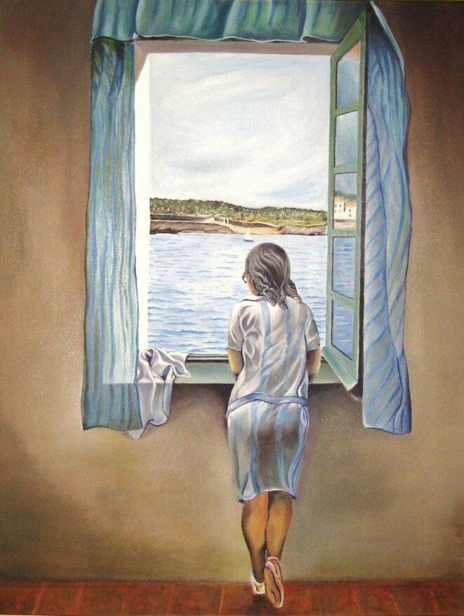 Jeune femme à la fenêtre (1925) © Salvador Dalí