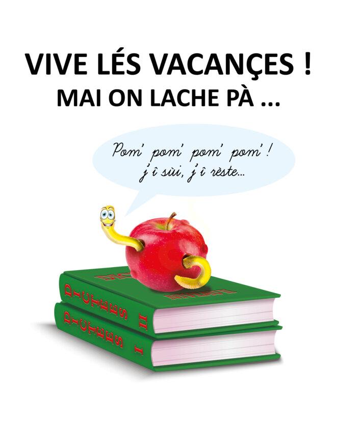 le vèr ê dan la pome-1 © Aimé Lagarde