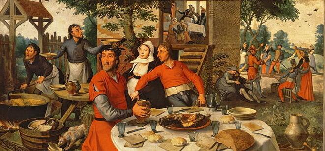 Fête des paysans, 1550 - Pieter Aertsen