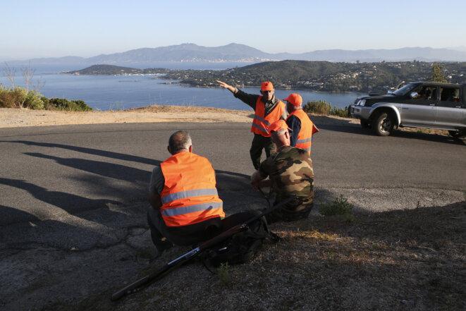 Chasse au sanglier en Corse, le 15 août 2020. © AFP