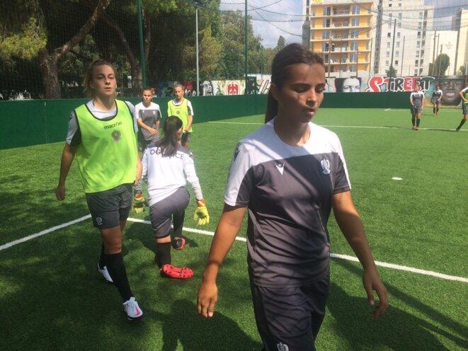 Les filles de OGC Nice, à l'entraînement. © JLLT / MP