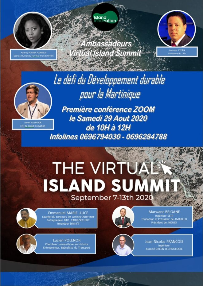 INVITATION - WEBINAR - VIRTUAL ISLAND HUB MARTINIQUE 2020 © Ambassadors martinique at Virtual island Summit 2020