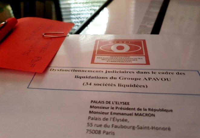 Affaire de la faillite du Groupe Apavou :  envoi postal, complet de clés usb, contenant 48 pièces jointes du 12/08/2020 © OSDEI Association Aide Entreprise