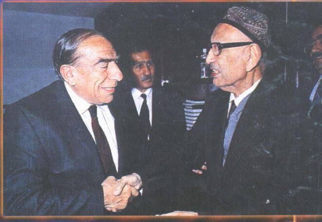 Alparslan Türkeş et Isa Yusuf Alptekin