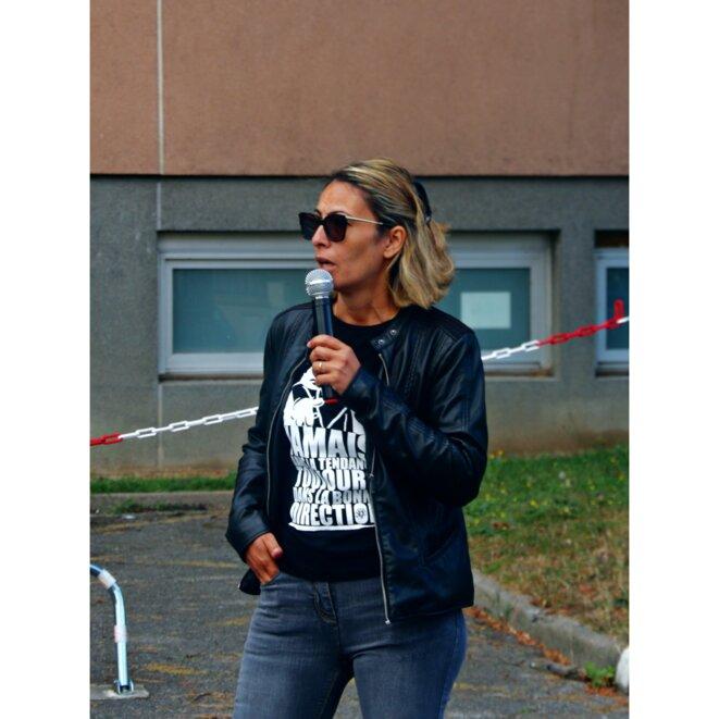 06.07.20, EPHAD Emile Gérard, Livry-Gargan, 93190, rassemblement en soutien à Anissa Amini © Palice Jékowski