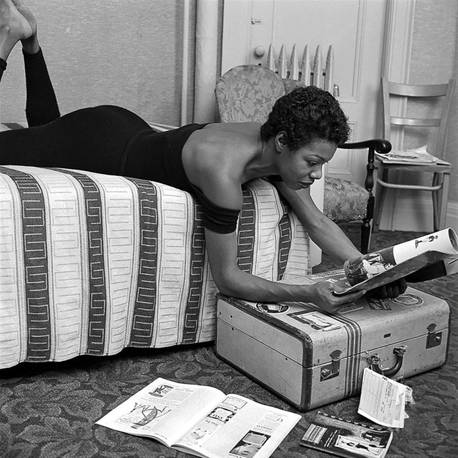 Maya Angelou, à New York. © G. Marshall Wilson