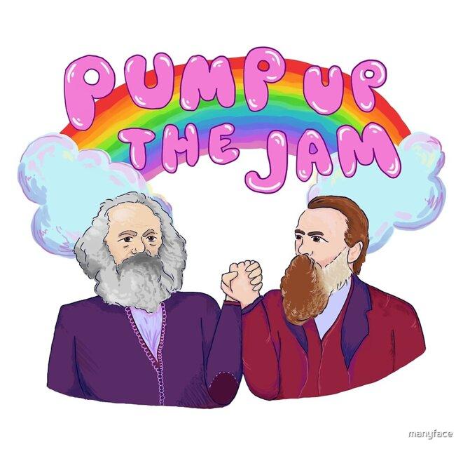 Karl Marx and Friedrich Engels © manyface