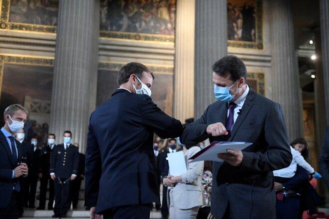 Cérémonie de naturalisation, le 4 septembre 2020 au Panthéon. © Julien DE ROSA / POOL / AFP