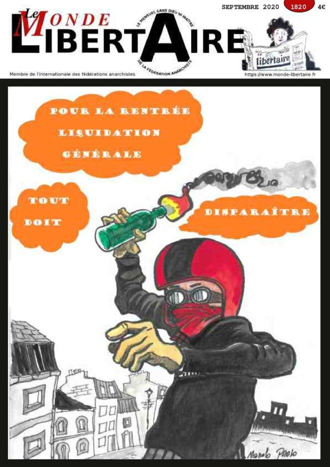 Couverture du Monde Libertaire Septembre 2020 n° 1820
