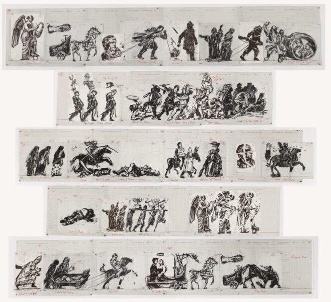 William Kentridge, Triumphs and Laments, esquisses © William Kentridge / Courtesy de l'artiste