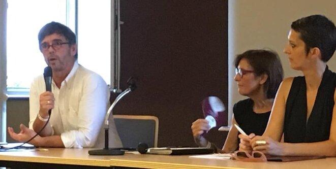 lors des journées d'été EELV à Strasbourg 2019 intervention au nom de ANVITA Damien Carême Président et M. Laïdouni-Denis