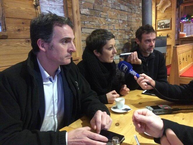 Briançon point presse suite action surprise Montgenevre février 2018