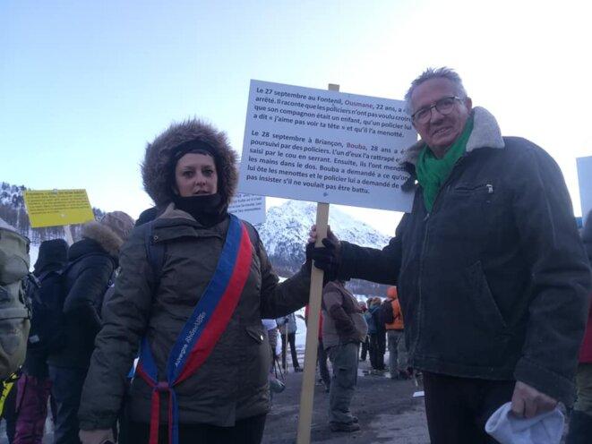 Briançon Grande maraude solidaire 7 mars 2020 où j'ai représenté ANVITA