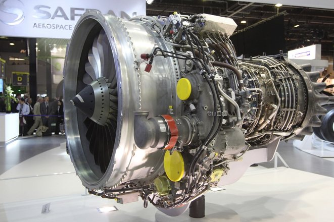 Un moteur Safran Aircraft Engines, au salon du Bourget en 2011. © Pierre Verdy / AFP