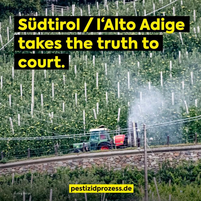 Environ une pomme sur dix récoltée en Europe provient du Sud-Tyrol. Les dernières données de l'office statistique italien confirment que dans la province autonome de Bozen/Bolzano, les ventes de pesticides par surface traitable étaient plus de six fois supérieures à la moyenne de l'Italie en 2018.