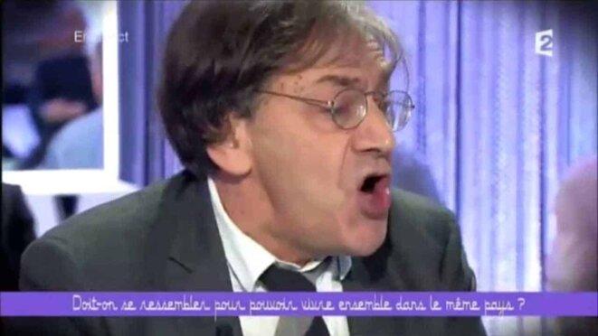 """Alain Finkielkraut dans l'émission """"Ce soir ou jamais"""" © capture d'écran"""