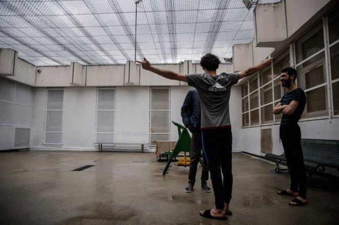 Un centre de rétention à Oissel le 22 mai 2020. © Sameer Al-Doulmy/AFP