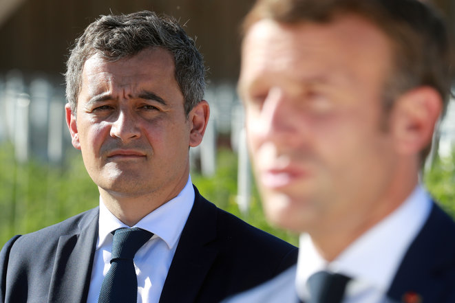 Gérald Darmanin et Emmanuel Macron. © AFP