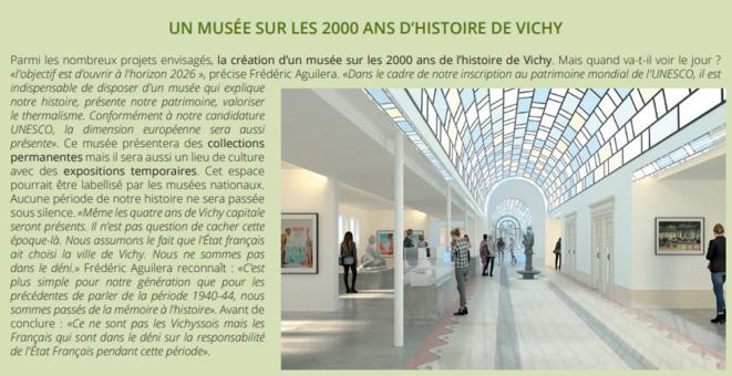 Dans le 114e numéro du bulletin municipal, page 7 : «Même les quatre ans de Vichy capitale seront présents.»