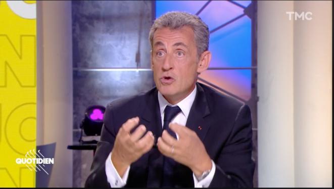 """N. Sarkozy dans l'émission """"Quotidien"""" le 10 septembre 2020. © Capture d'écran"""