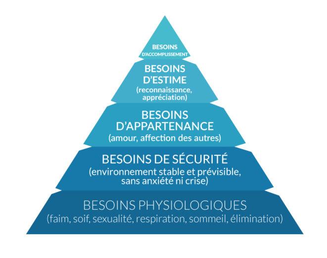 Pyramide de MASLOW sur les besoins primaires © Jean-Luc ROBERT - Psychologue