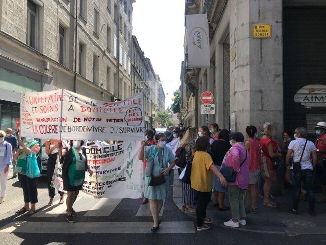 Rue de la Résistance, au lieu de rendez-vous, devant le siège de AIMV [Ph. YF]
