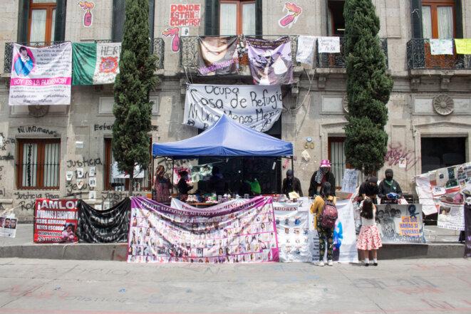 Devant la « Casa de Refugio Ni Una Menos », à Mexico. © Sonia Madrigal