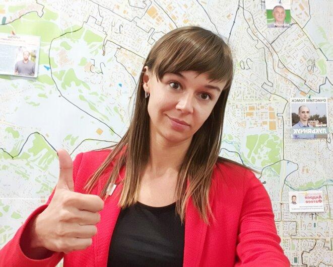 Ksenia Fadeieva, de l'équipe Navalny, est élue à Tomsk, en Sibérie. © (dr)