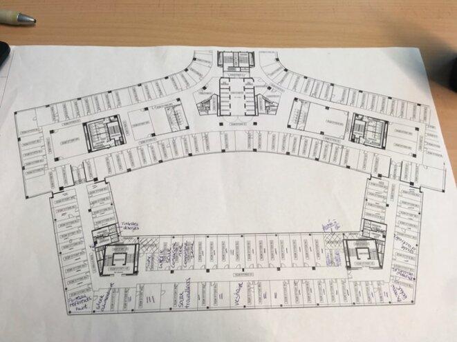 Un plan du Parlement européen © Anais Ortega