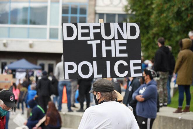 Une manifestation à Anchorage, en Alaska, le 7 septembre 2020. © The Alaska Landmine/Flickr