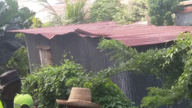 La maison qui recueilli le dernier souffle d'Eugène Mona (13 juillet.1943 - 21 septembre 1991) au Morne Calebasse à Fort de France. Martinique.
