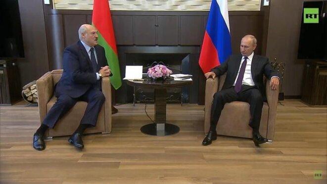 Poutine reçoit Loukachenko à Sotchi © Belta