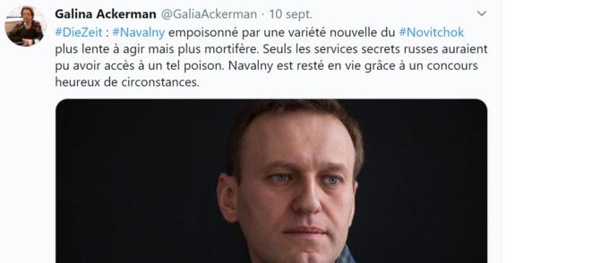 Twittt de Galia Ackermann