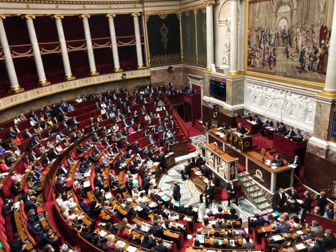 Les députés lors de la première séance de questions au gouvernement de la rentrée, le 15 septembre 2020. © MG