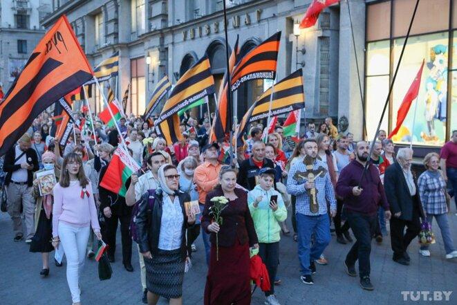 Manifestations de l'up side down biélo-russe