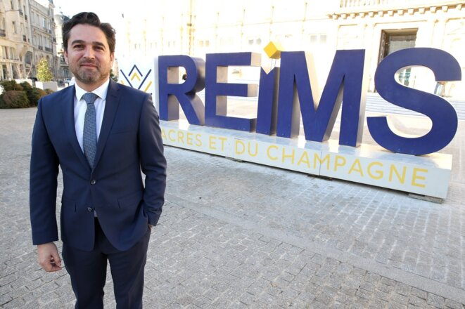 Arnaud Robinet, maire LR de Reims. © François Nascimbeni / AFP