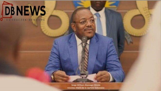 Serge William Akassaga Okinda, Maire par intérim de la capitale Gabonaise/DR.