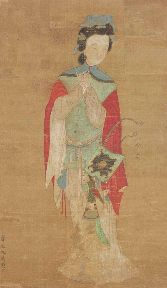 «Dame (Mulan).» 18e siècle, British Museum. Image du domaine public via Wikimedia.