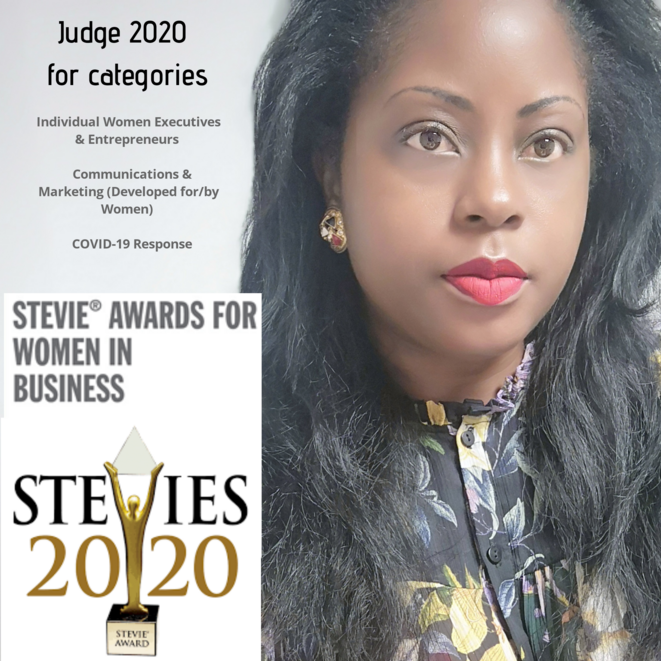 Audrey POMIER FLOBINUS juge 2020 au Stevie Awards for Women in business © Humanity For The World (HFTW)