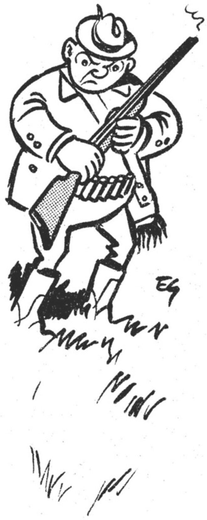 Chasseur dessin 1 © Etienne Mahler