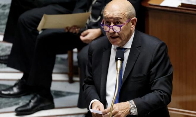 Le Drian mardi à l'Assemblée. © THOMAS COEX / AFP