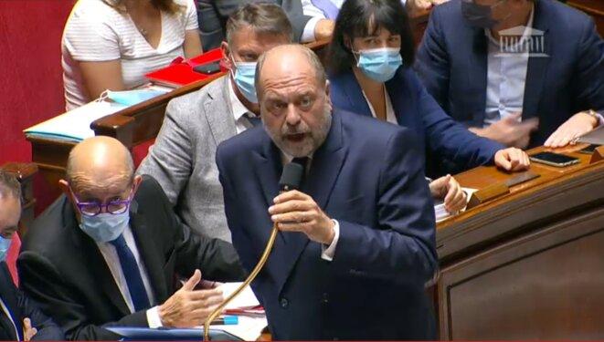 Eric Dupond-Moretti, le 22 septembre à l'Assemblée nationale. © DR