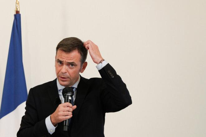 Le ministre de la santé au point presse du 17 septembre 2020. © GEOFFROY VAN DER HASSELT / AFP