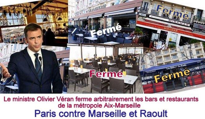 Bars et restaurants fermés à Marseille © Gérard Gamier