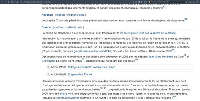 Blasphème France - Chapitre 4.6.6 © Wikipédia