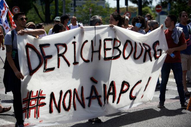 Dans une manifestation à Toulouse, le 9 juin. © Alain Pitton / NurPhoto via AF